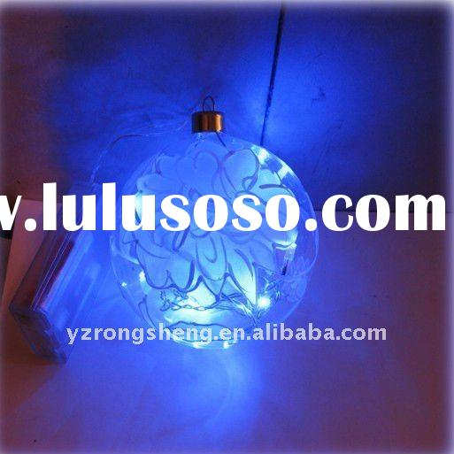 glass led Christmas ball for Christmas decoration