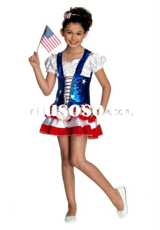 halloween children chinese National Flag of USA fancy dress costumes for kids MAC-0437