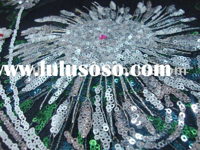 hand embroidery fabric for wedding dress