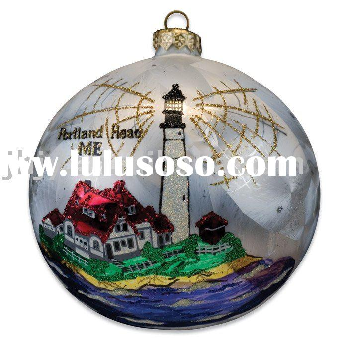 hand painted blown glass christmas ornaments