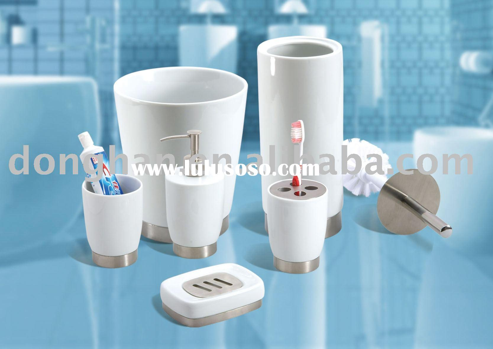 high-class ceramic bathroom accessories with stainless steel