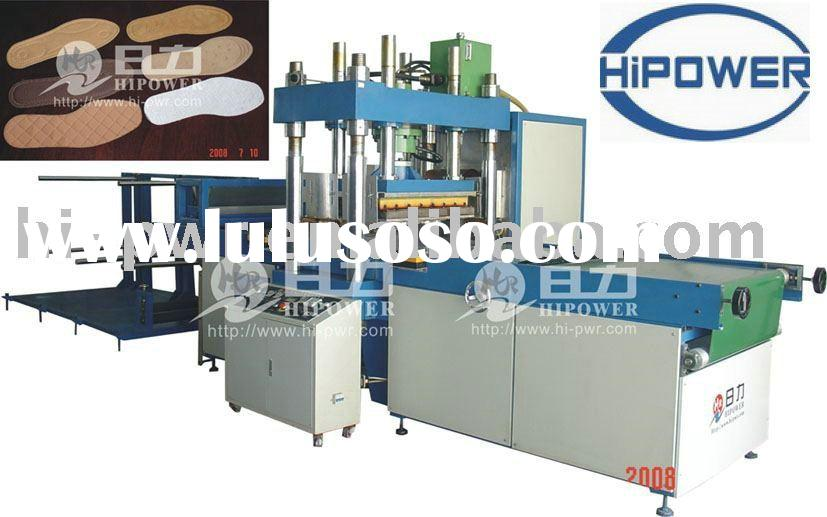 high frequency plastic welding, cutting and embossing machine for shoe pad, upper