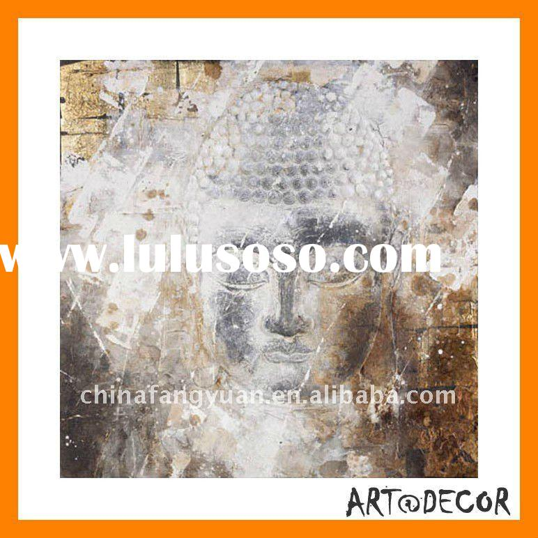 high quality best price handpainted modern buddha abstract oil paintings
