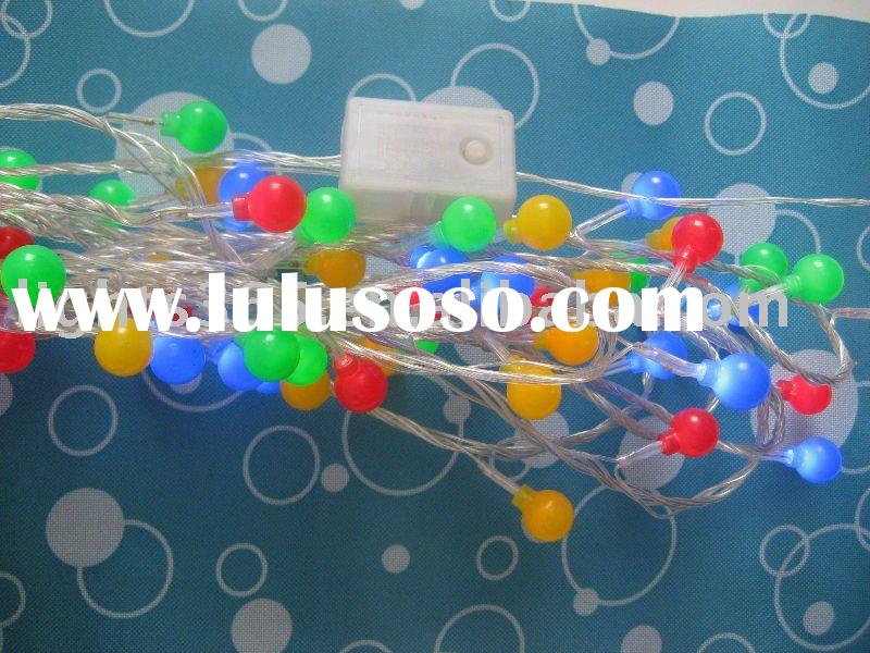 holiday decorative ball string/battery lights
