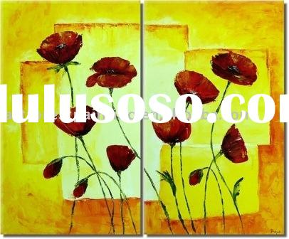 home decoration oil painting(Abstract Flower Painting)
