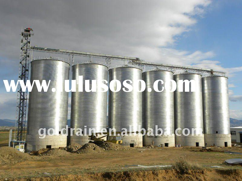 hopper bottom wheat silo
