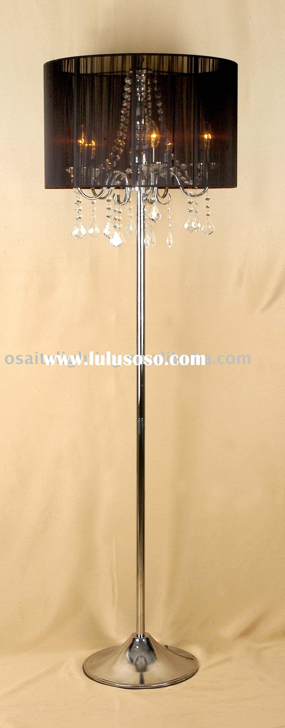Modern chrome crystal floor lamp modern chrome crystal floor lamp