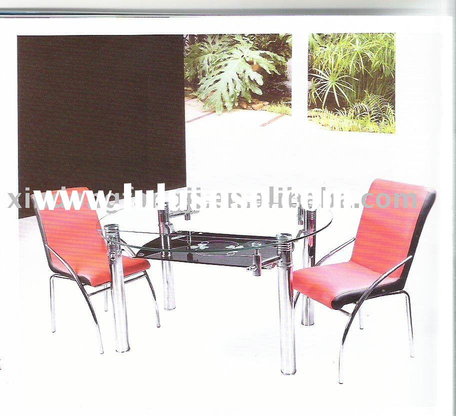 hotel dining table/Glass Dining Table and Chairs