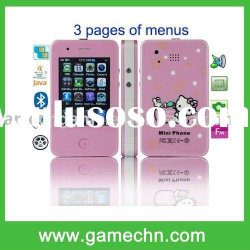 i4G, Hello Kitty Style, JAVA & Bluetooth FM function Touch Screen Mini Cell phone