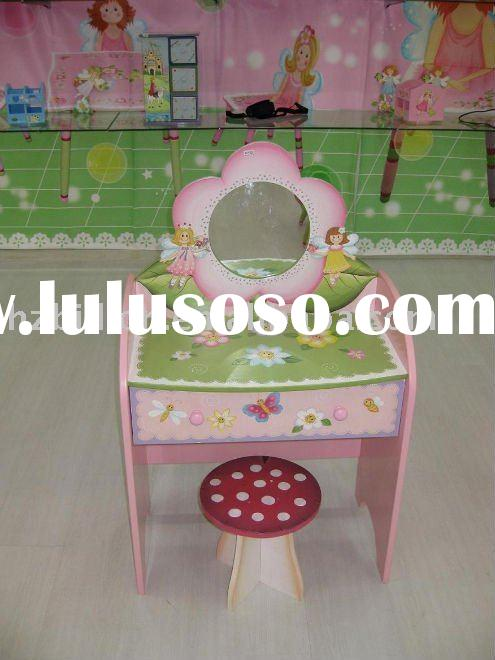 kids furniture wooden hand painted kid dressing mirror table