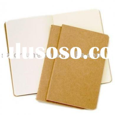kraft paper exercise book, recycled exercise book,soft cover notebook