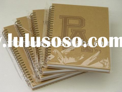 kraft paper notebook,recycled notebook,Spiral notebook