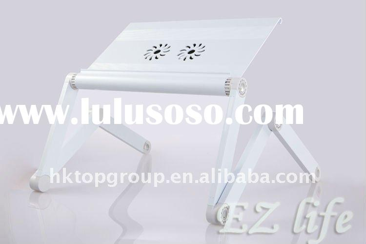 laptop table/laptop bed table/ergonomic laptop table with USB fans and mouse pad