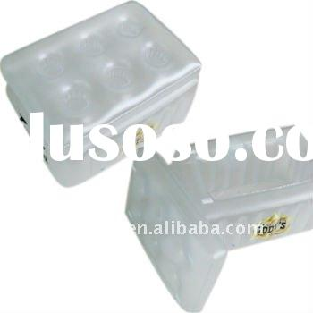 lid plastic ice bucket with square shape