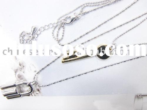 lock, key charms jewelry gifts,concept jewelry, alloy necklace,fashion woman accessories,OEM gifts