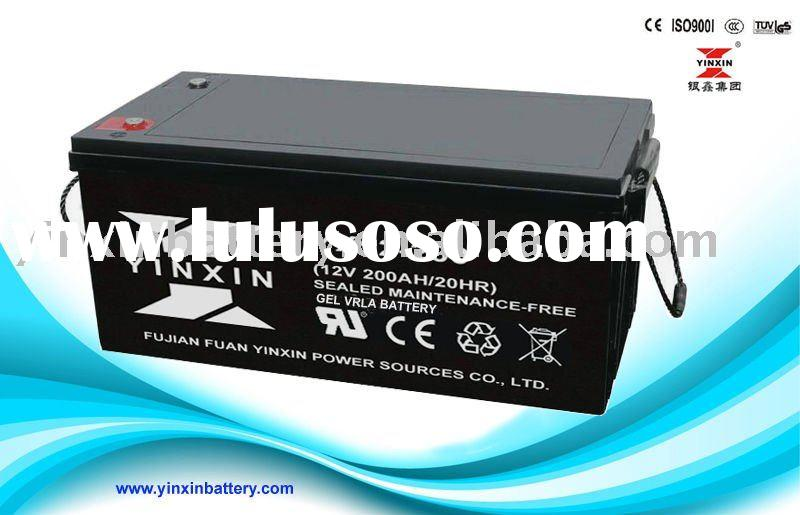 long deep cycle life solar gel battery 12v200ah