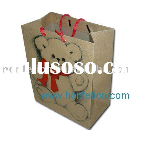 lovely kraft paper bag with ribbon handle