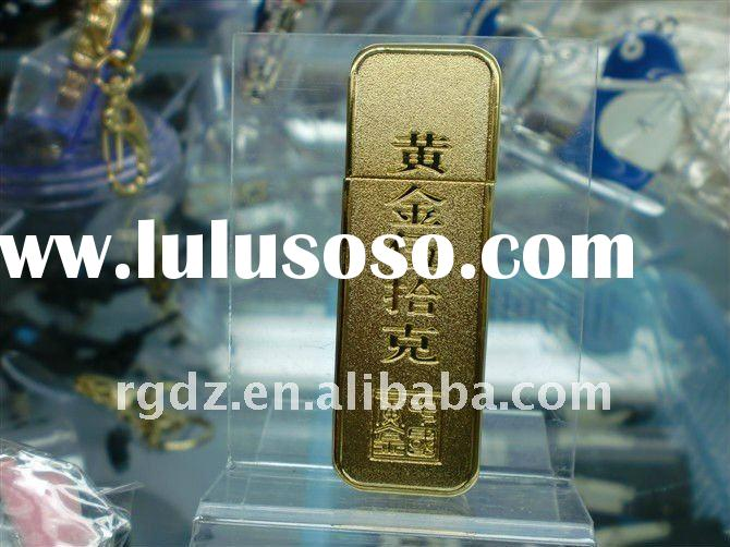 metal 999 gold bar usb flash drive 64gb,sample free ,paypal accepted