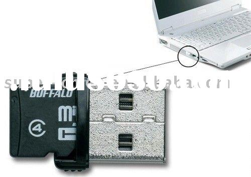 microSD memory card reader for USB Flash Drive cute mini version