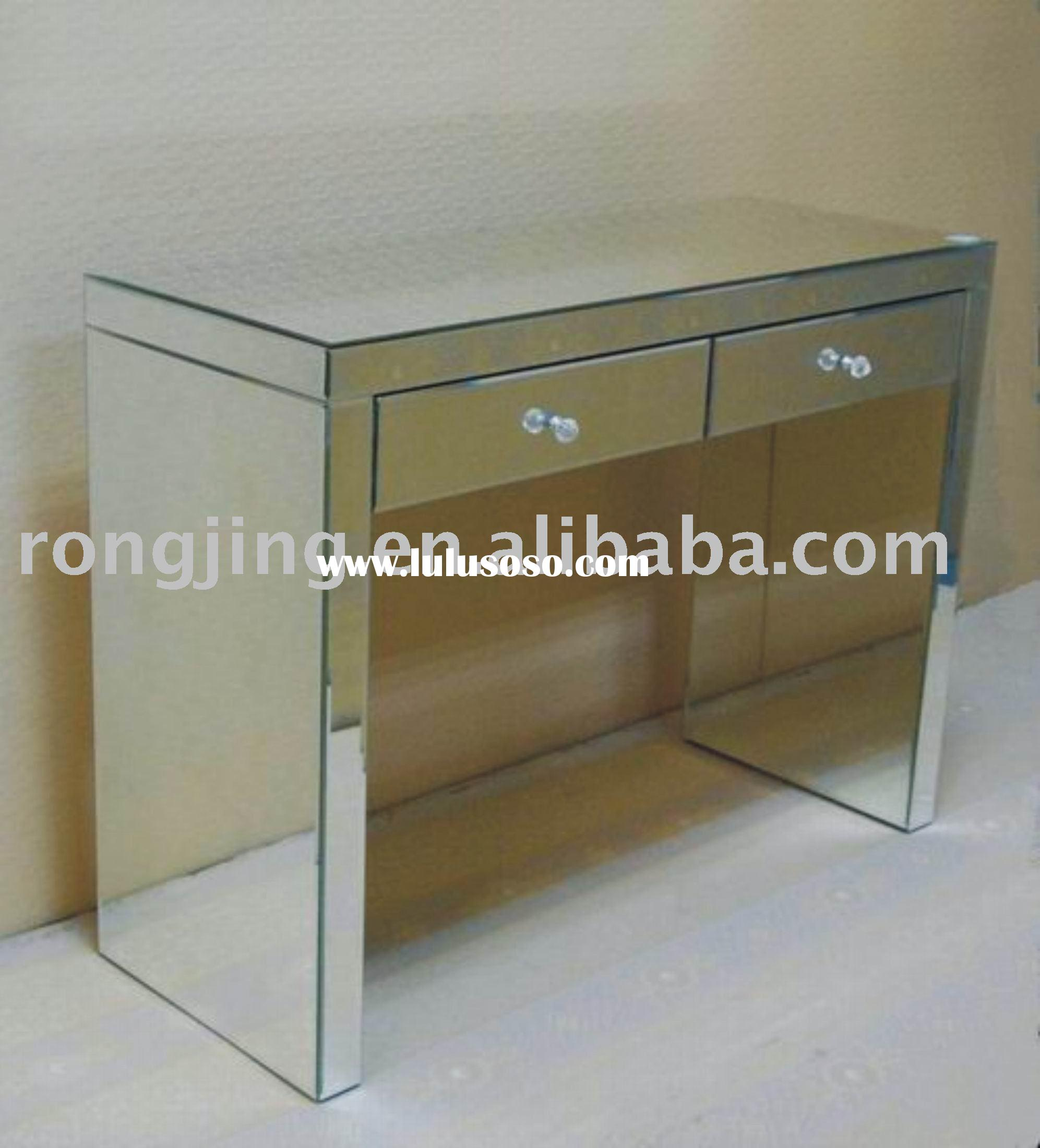 Mirror Furniture,mirror Table,glass Table,long Table With Two Drawers