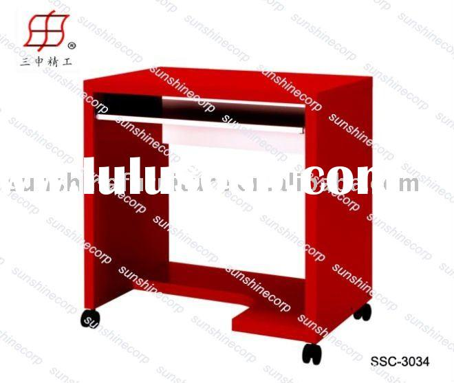 mordern red simple home office computer table desk