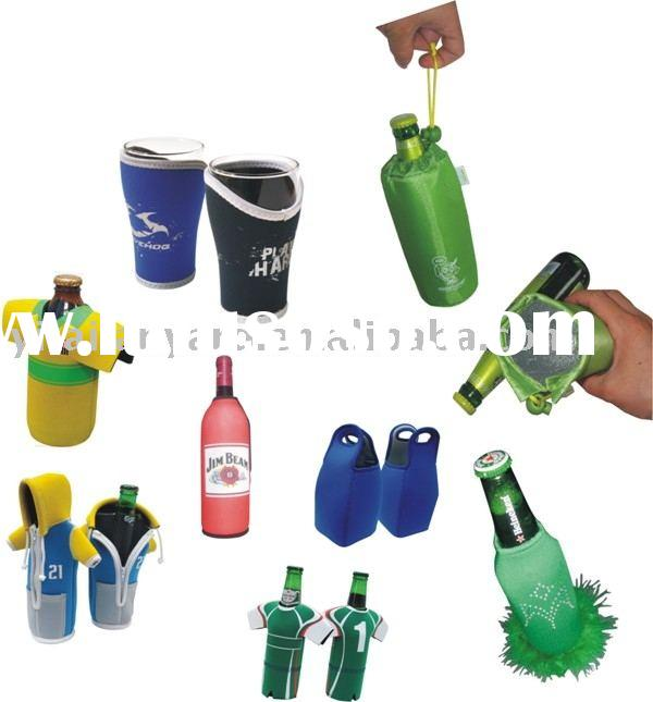 neoprene can cooler/stubby holder/can coozie/beer bottle holder/bottle sleeve