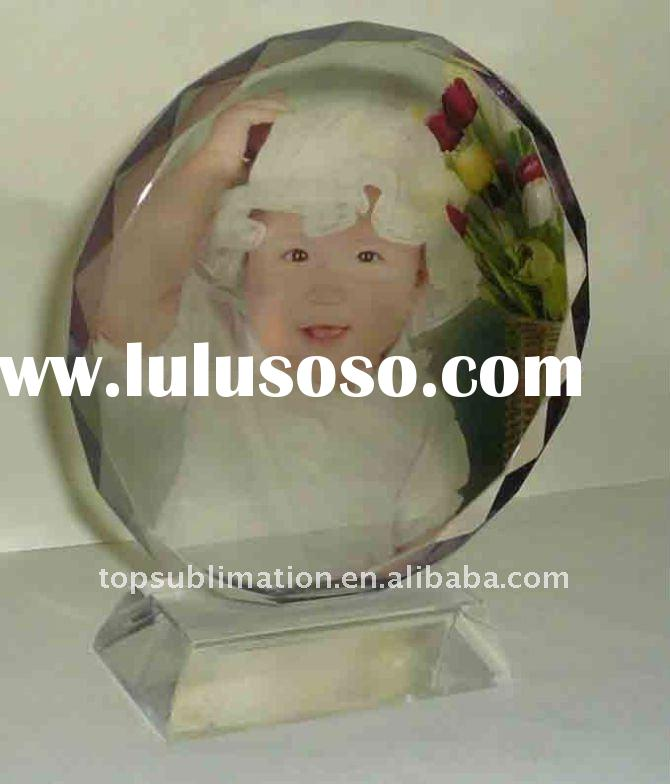 new design photo crystal for wedding/birthday/party