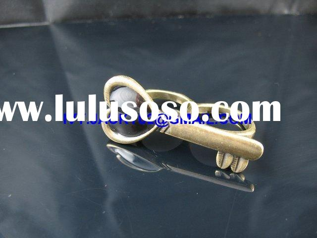 new fashion DOUBLE TWO FINGER GOLD heart KEY RING