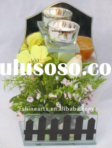 one cup with flowers beautiful floor standing glass candle holder centerpieces