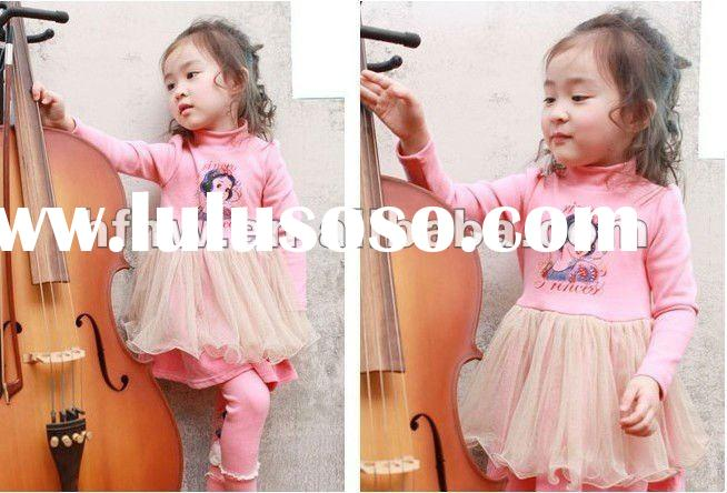 one-pc dress children girl fashion spring/Autumn wear lovely dress