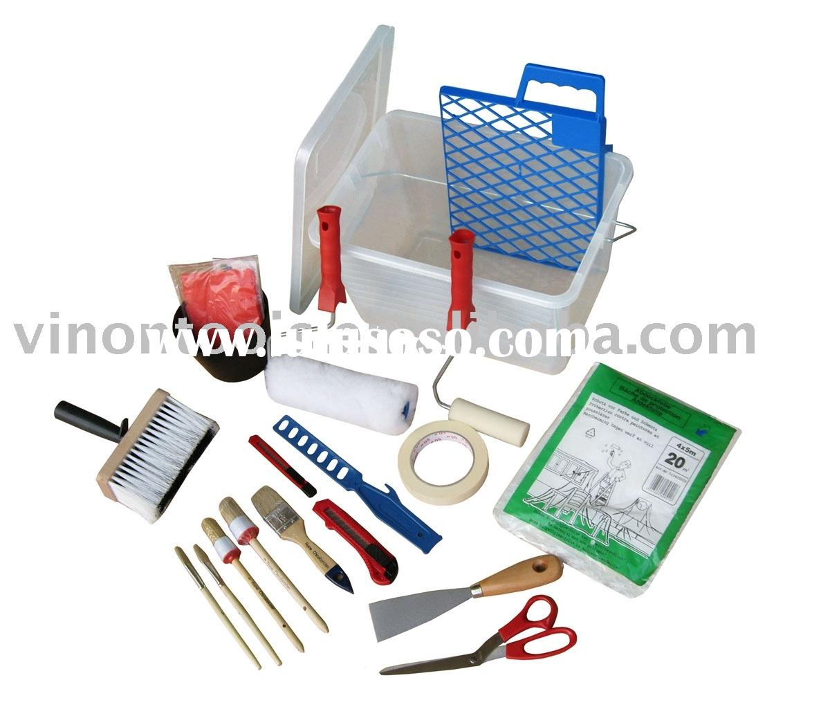 paint tool sets, decorating tools(paint tool,roller,paint brush)