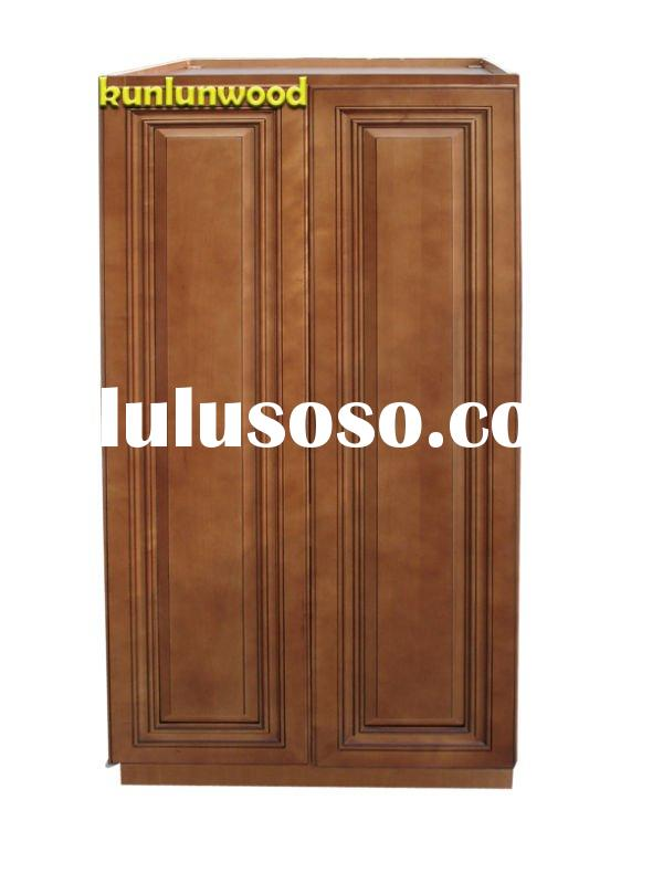 pantry base cabinet plywood box wood door kitchen cabinets-- coffee glaze PB2454