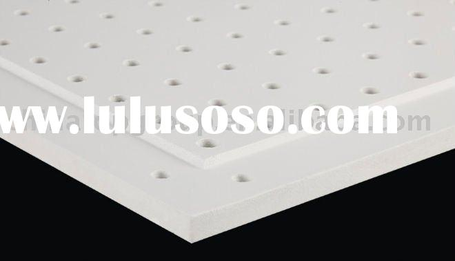 perforated acoustic plaster/gypsum wall panel