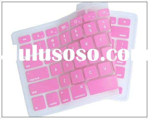 pink cute and flexible silicone keyboard cover in low price