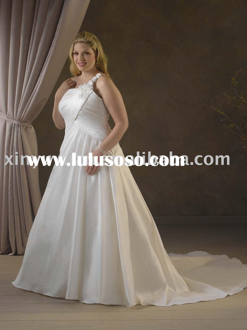 plus size summer new designer spaghetti strap wedding dresses BPW-052