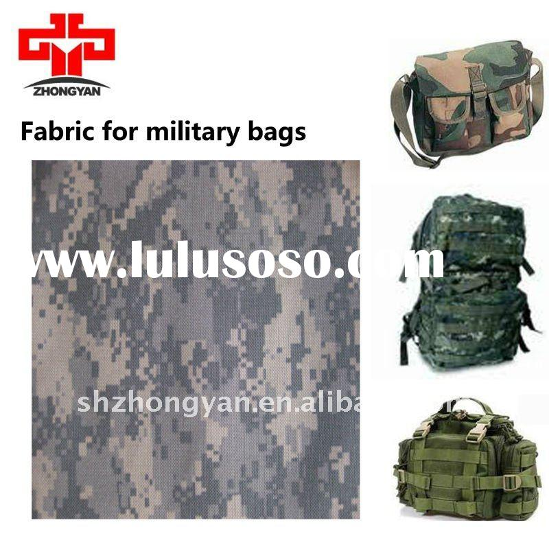 poly 600d oxford fabric with military camouflage printing for bagpacks and vest