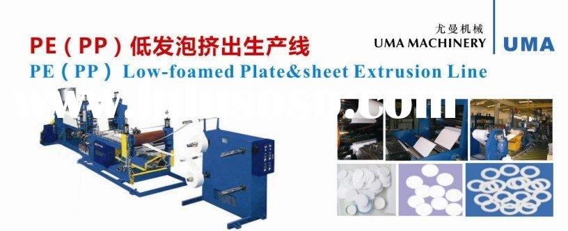 polypropylene low-foamed plate & sheet extrusion machinery