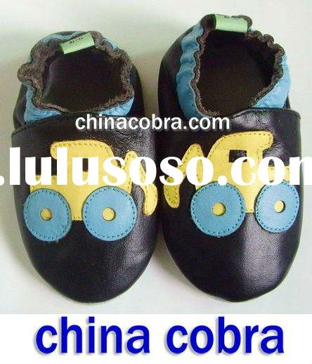 popular in Europe top quality soft sole genuine leather baby shoes