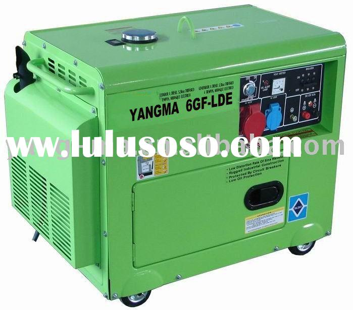 portable air cooled diesel engine power silent generator 5KVA( at good price)