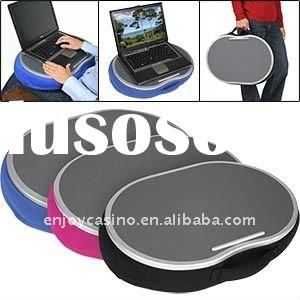 portable laptop desk with led light and drink cupholder