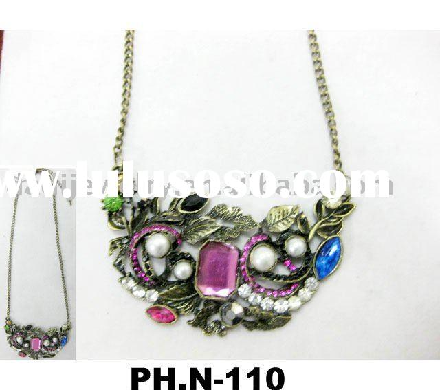 pretty necklace jewelry/2011 new fashion necklace/cool necklace ( PH.N-110)