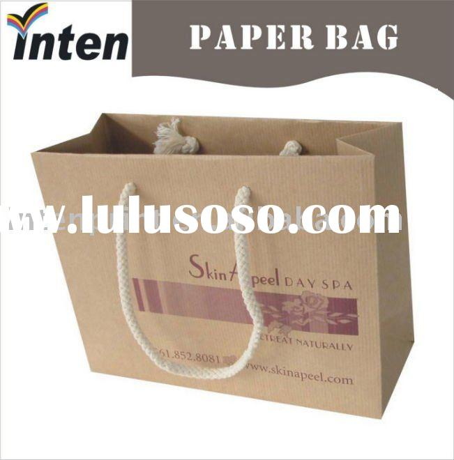 printed kraft paper bags with string handle