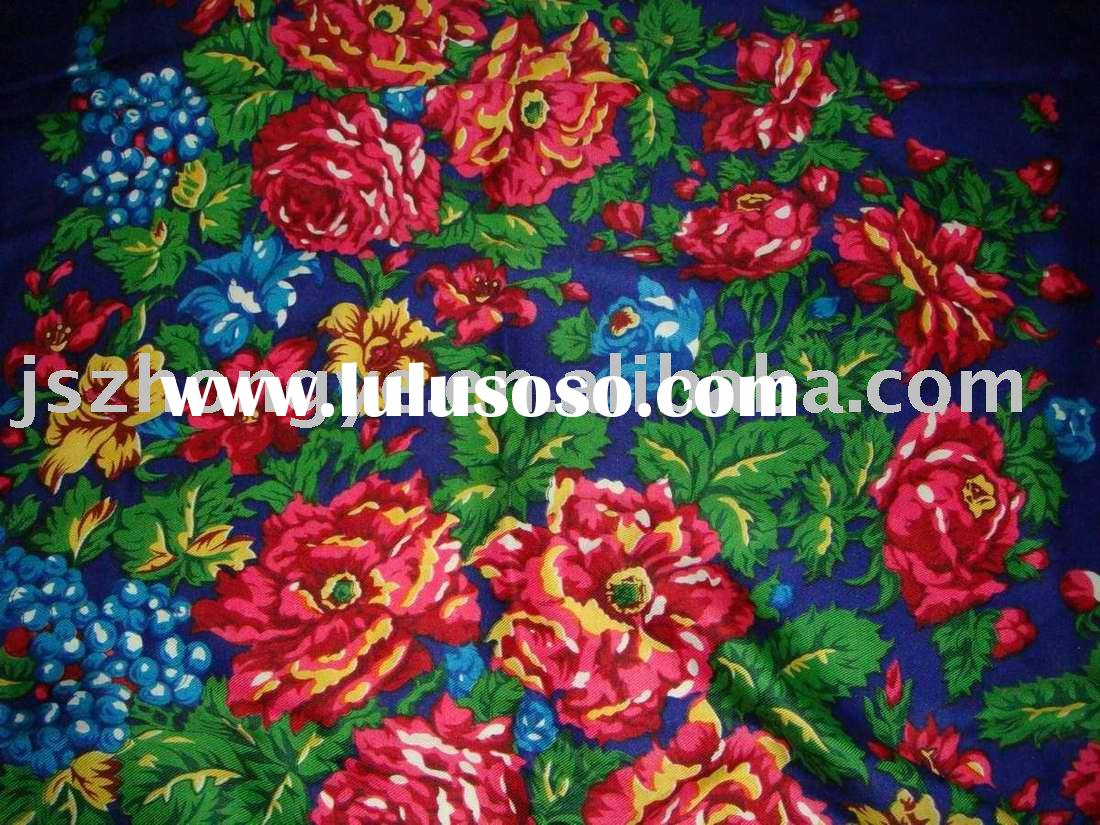 printed scarf/fashion scarf/polyester mixed fabric/scarf/shawl