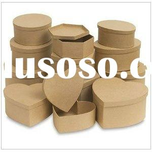 recycled shaped kraft paper gift box for small gift