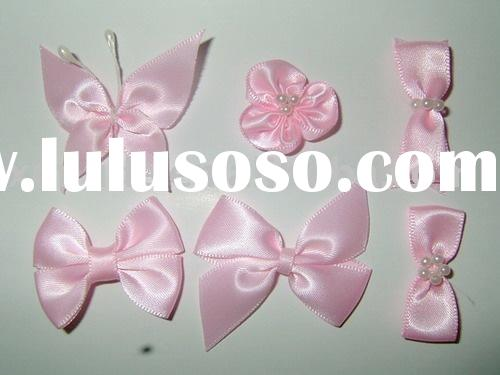 satin ribbon flower,ribbon bows,rose flower ribbon,roses packing bows,ribbon roses