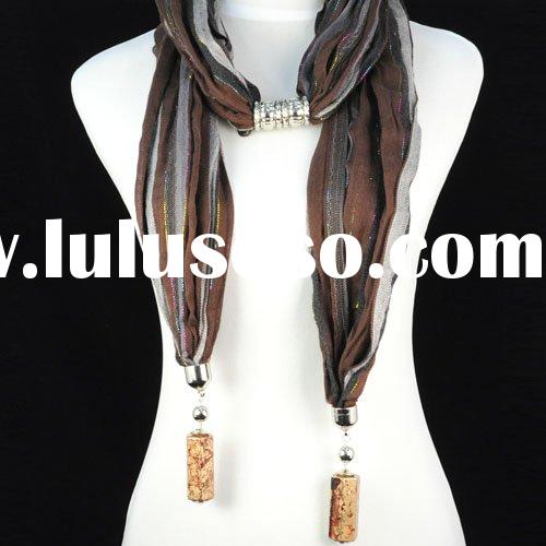 scarf necklace ,fashion jewelry ,free shipping ,paypal ,nl-1055a
