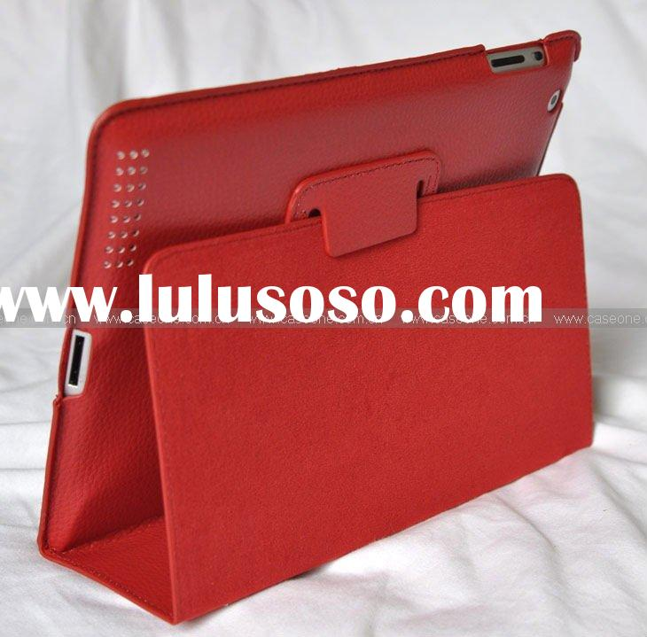 slim leather case for iPad 2 for Apple iPad2 with recall function