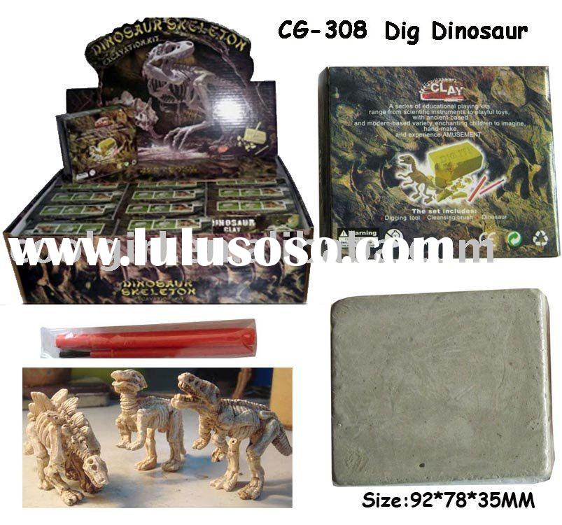 small dig dinosaur skeleton excavation fossil toy kit