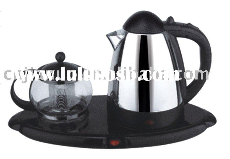 stainless steel electric water kettles with glass tea pot