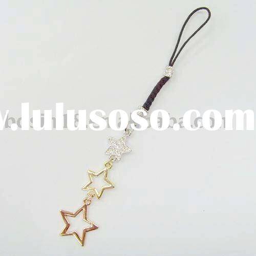 star phone charms/mobile chain/cell phone accessories